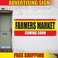 FARMERS MARKET COMING SOON Advertising Banner Vinyl Mesh Decal Sign NOW OPEN NEW