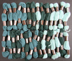 29xNeedlepoint/Embroidery THREAD DMC L Colbert Tapestry 1ply wool-blue,teal-MQ45