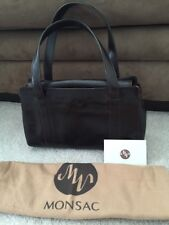 Monsac Brown  Small Satchel Bag Leather Purse