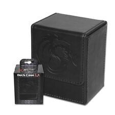 Wholesale Lot of (24) BCW Deck Case LX Black Leatherette MTG Box Holds 80 Cards