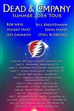 Dead & Company 2016 Tour Dates Poster Grateful Dead