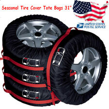 4x Tire Cover Wheel Tire Bags Seasonal Storage Tote Spare Tire Covers 80cm/31in