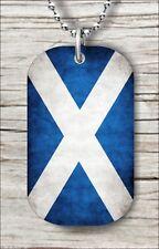 "FLAG SCOTLAND DOG TAG PENDANT and ""FREE CHAIN"" -f6h2c9"