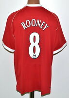 MANCHESTER UNITED 2006/2007 HOME FOOTBALL SHIRT NIKE ROONEY #8 SIZE XL ADULT