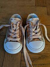 Infant Rose Gold Glitter Sparkle Converse 5 Boys Girls