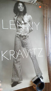 "1991 LENNY KRAVITZ MAMA SAID ORIGINAL RECORD STORE PROMO POSTER  20"" X 36"""