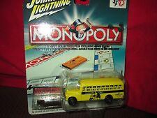 1956 gmc chevy  bus community chest school bus monopoly JOHNNY LIGHTNING 1/64