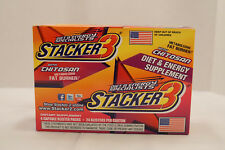 Stacker 3 With Chitosan Energy Boost Dietary Suplement Fat Burner 96 Capsules