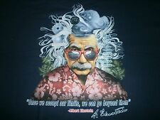 """ALBERT EINSTEIN """" ONCE WE ACCEPT OUR LIMITS, WE CAN GO BEYOUND THEM """" S/S M"""