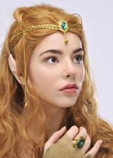 Elfo Principessa verde gioiello della corona Copricapo