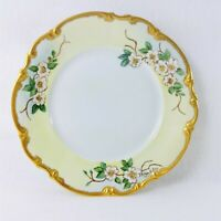 Collectors Plate Hutschenreuther Gelb Germany Hand Painted Dogwood Signed