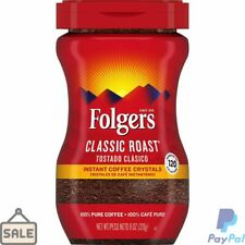 New listing Folgers Classic Roast, Instant Coffee Crystals, 8 oz