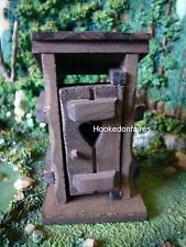 Miniature Fairy Garden Outhouse Wood w hinged door LS FA26 /  Gnome Dollhouse