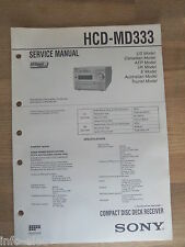 Schema SONY - Service Manual Compact Disc Deck Receiver HCD-MD333 HCDMD333