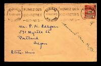 France 1931 Social Security Tax Stamp Illegal Use Cover to USA - L16912