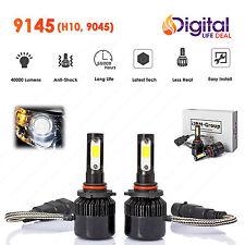 2 x Premium 9145 H10 9045 COB LED Headlight 6000K 40000LM Bulbs for Fog Light A