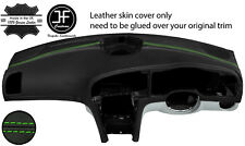 GREEN STITCH TOP DASH DASHBOARD REAL LEATHER COVER FITS SAAB 93 9-3 2003-2012