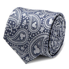 Disney Mickey Mouse Gray Paisley Mens Tie, Officially Licensed
