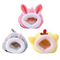 Pet Sleeping House Plush Warm Hamster Puppy Kitten Bed Soft Nest Kennel Mat