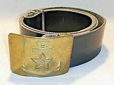 Russland /UDSSR / Marine Koppelschloss mit Gürtel  / Rote Armee / Messing