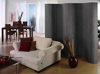 Paravent Raumteiler Trennwand Wand Dekowand Sichtschutz aus Bambus Farbe STEEL