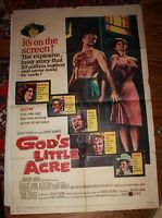God's little Acre Vintage one sheet Movie poster Sexploitation Georgia 1967 #2