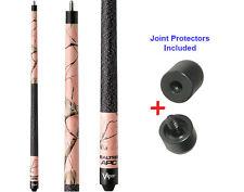Viper Realtree APC Pink Camo 50-9006 Pool Cue Stick 18-21 oz & Joint Protectors