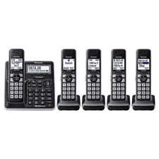 6.0 Bluetooth Home 5-Handset Expandable HD Cordless Phone System Call Block