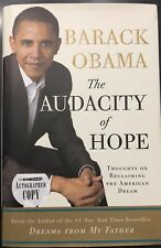 President Barack Obama Signed Audacity Of Hope Book PSA Letter COA 1st Edition