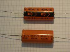 Lot de deux condensateurs axial : 2 x 10000uF 16V 85°