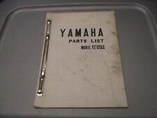 Yamaha OEM Parts List Catalog Manual 1976 YZ125C YZ125 YZ 125