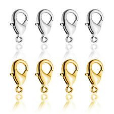 Hot selling 100pcs/lot Stainless Steel Lobster Clasps 18K Gold Plated Findings