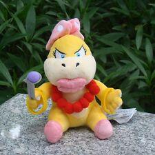 "Super Mario Bros Plush Toy Wendy O. Koopa 6.5"" Bowser Koopalings Stuffed Animal"