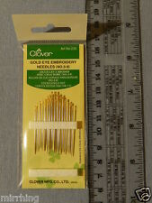 Needles - Embroidery Gold Eye (16 needles, 7 sizes)  by Clover