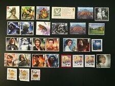 Postage Stamps of Great Britain from 2015 - 2016 set of Star Wars