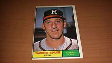 1961 Topps Baseball Card #200 Warren Spahn EX+ *1506