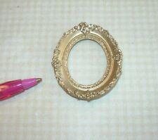 Miniature Elegant Small Oval Gold Frame #9: DOLLHOUSE Miniatures 1:12 Scale