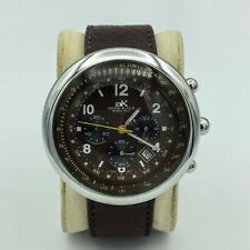 Adee Kaye Beverly Hills Chronometer All Stainless Steel Mens Wrist Watch