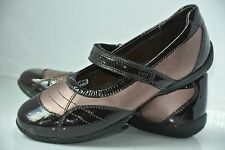NEW GEOX Girls Sz 33 / 2 Youth Plum Patent Leather Strappy Mary Jane Flats $79