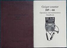 Contador Geiger DP-66 Manual (Inglés)
