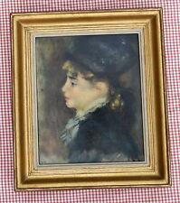 """Reproduction entoilée Tableau de Auguste RENOIR """" Petite Marie """" SPADEM"""