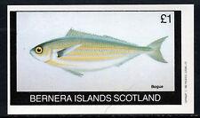 GB Locals - Bernera 3756 - 1982 BOGUE  FISH imperf souvenir sheet unmounted
