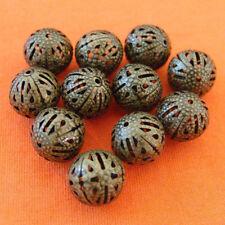 12pcs 16mm Antique Bronze Filigree Beads