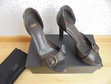 Original Hugo Boss Leder High Heels NP: 385€ w NEU TOP Schuhe Pumps Gr. 36