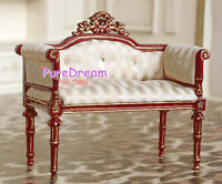 Dollhouse Furniture Armchair Sofa Made of Cloth& Wood JB0041