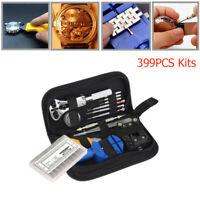 Screwdriver Watchmaker Link&Pin Remover W/ Zipper Clock Repair Kit Watch Tool