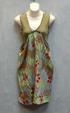 B5 NWT MISSONI Silk & Viscose Olive Multicolor Printed Sleeveless Dress Size 42