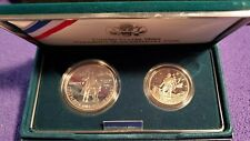 1992-P USA CHRISTOPHER COLUMBUS 2-COIN PROOF SET WITH 90% SILVER DOLLAR