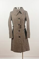 NWT $900 Mackage Gabriella Speckled Black Tweed Wool Winter Coat Jacket MEDIUM