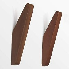 Hot Mid-Century Wall Coat Hooks   Made of Solid Teak (Pack of 2). New
